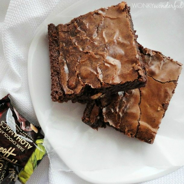 Brown Butter Glazed Dark Chocolate Brownies - wonkywonderful.com