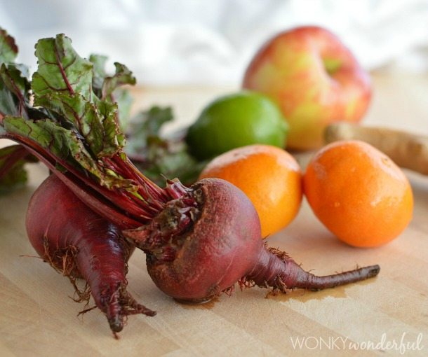 Beet Juice Recipe with Orange, Lime, Apple and Ginger - Healthy - Juice Cleanse - wonkywonderful.com
