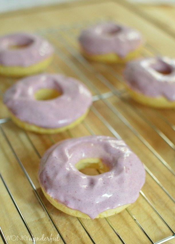 Blackberry Ginger Baked Donuts with Greek Yogurt Glaze - doughnut recipe - wonkywonderful.com