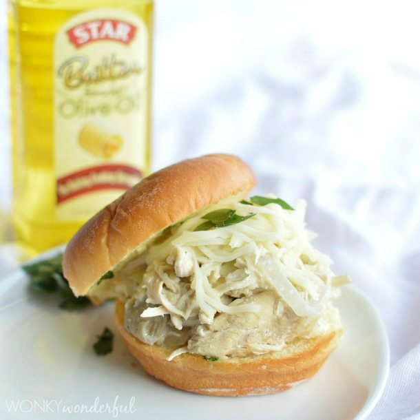 Crock Pot Chicken Recipe - Creamy Chicken and Artichoke Slow Cooker Recipe - wonkywonderful.com #CollectiveBias
