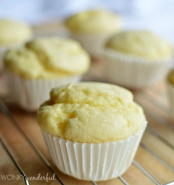 yellow muffin in white wrapper