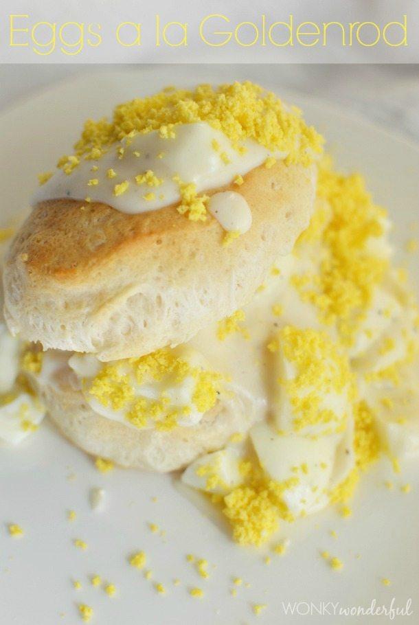 Eggs a la Goldenrod Recipe - egg recipe - breakfast - Easter Brunch Recipe - wonkywonderful.com