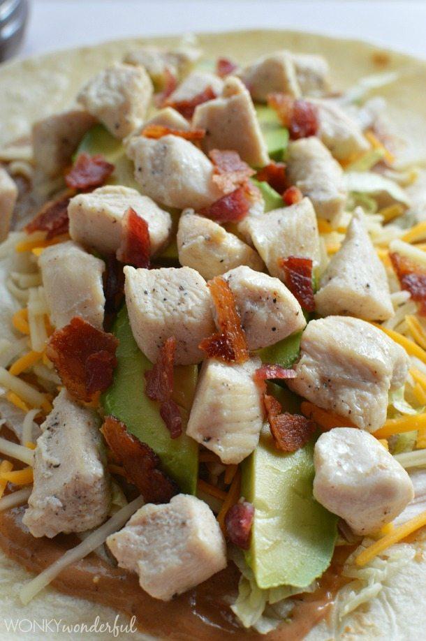 Creamy Barbecue Chicken Wrap - lunch recipe - wonkywonderful.com
