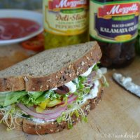 Greek Vegetable Sanwich