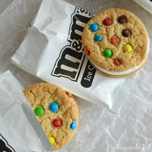 M&M Cookie Ice Cream Cake Recipe : Easy Ice Cream Pie : Frozen Dessert