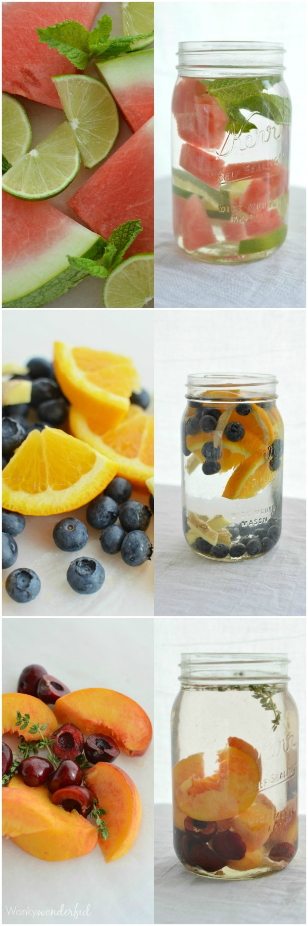 Naturally Flavored Water Infused with Fruit and Herbs : Healthy Drink : Homemade Vitamin Water #whole30recipes #paleorecipes #veganrecipes