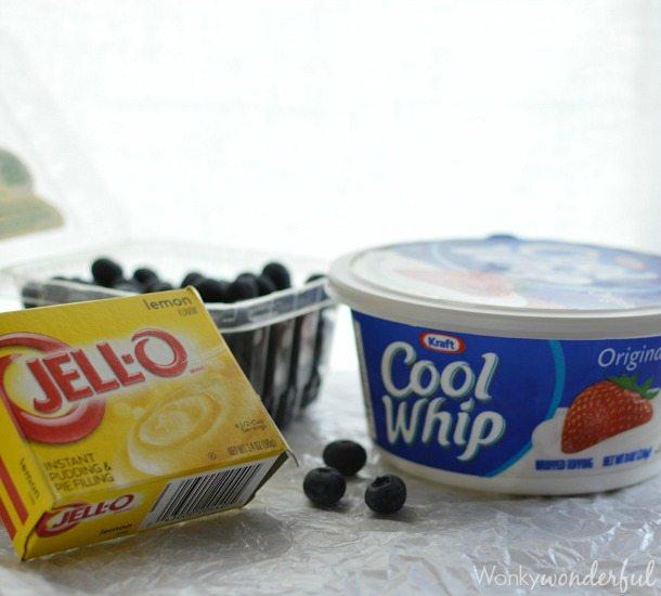 Creamy Lemon Blueberry Pudding Pops : Homemade Popsicles : Summer Dessert Recipe