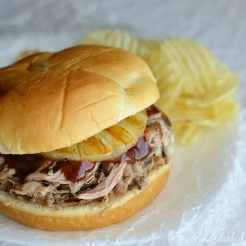Slow Cooker Pulled Pork Sandwiches with Grilled Pineapple : Crockpot Dinner Recipe : Cookbook & Slow Cooker Giveaway