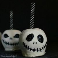 Jack Skellington Chocolate Covered Apples