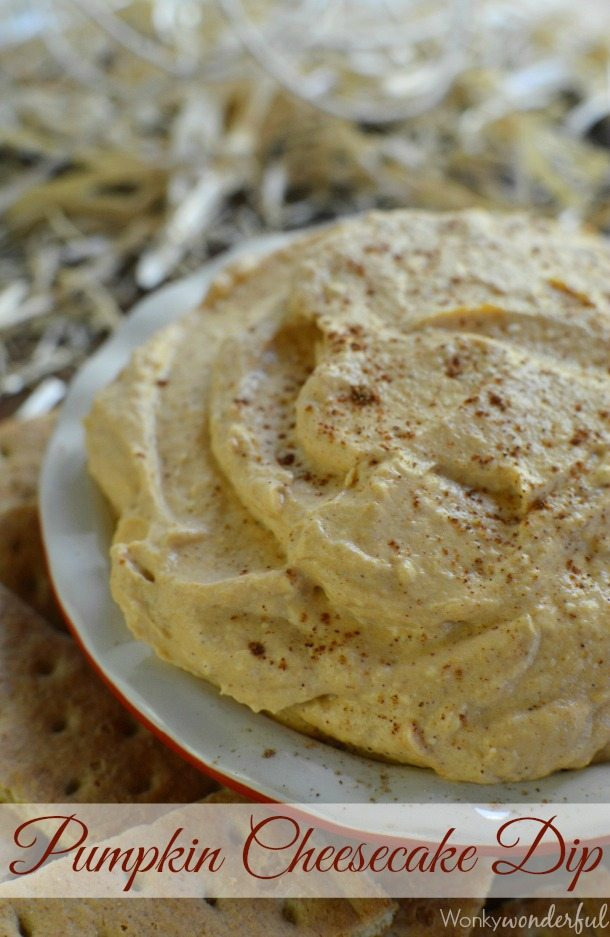 Pumpkin Cheesecake Dip Recipe - A quick and easy Fall dessert. Perfect for Thanksgiving!