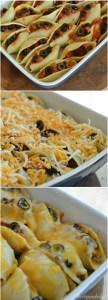 Taco Stuffed Pasta Shells - Easy and flavorful pasta bake dinner recipe.