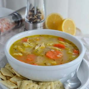 Easy Chicken Soup Recipe with Lemon and Pepper - The great flavor of lemon pepper chicken in soup form! Meyer Lemon and Fresh Cracked Pepper make this healthy chicken noodle soup unforgettable!