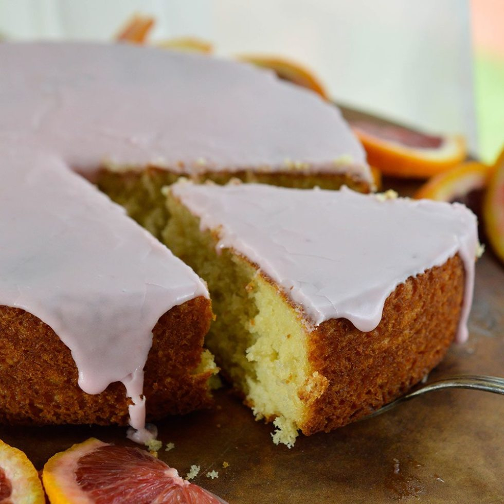 Blood Orange Cake Recipe with Blood Orange Glaze. This easy cake recipe is a beautiful dessert with mild orange flavor.