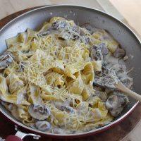 Mushroom Ricotta Pasta