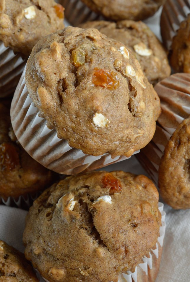 Banana Bread Breakfast Muffins Recipe - Banana, Oats and Raisins make these muffins the perfect start to your day!