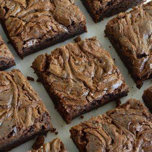 Chocolate Chunk Nutella Brownies Recipe