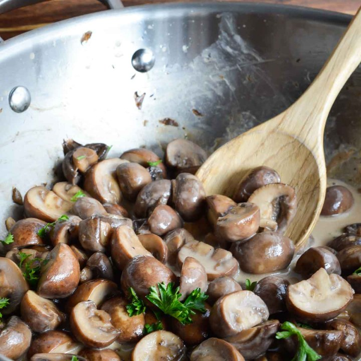 Creamy Sautéed Mushrooms