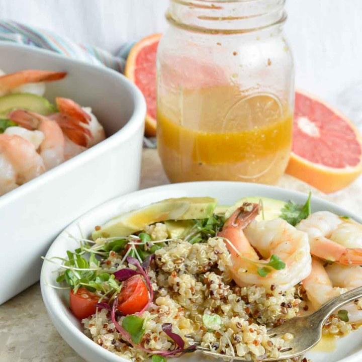 Shrimp Avocado Salad with Grapefruit Vinaigrette