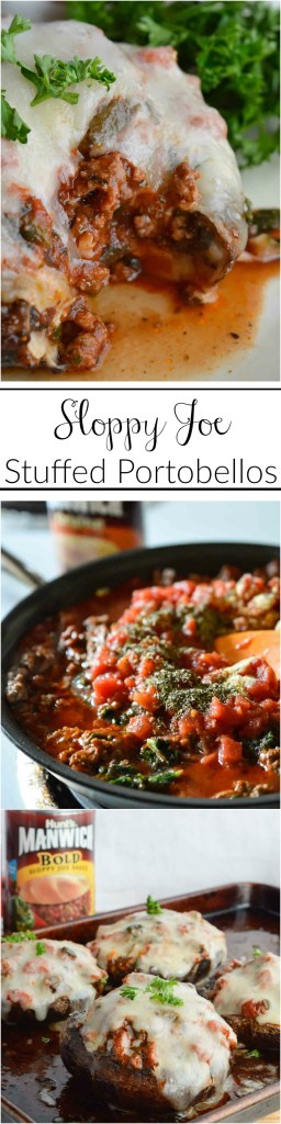 Try these Italian Sloppy Joe Stuffed Portobello Mushrooms for a delicious change to your dinner routine. This recipe is easy, nutritious and will have the kids eating their vegetables without complaint!
