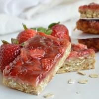 Strawberry Oatmeal Vegan Breakfast Bars
