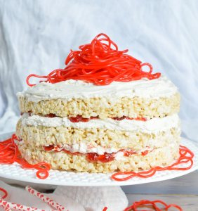 Rice Crispy Treat Candy Cake