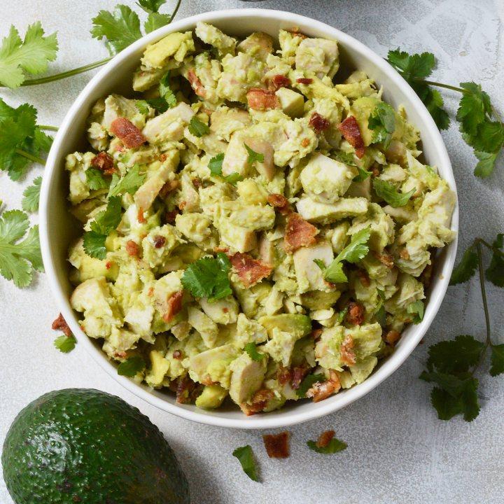 Bacon Avocado Chicken Salad - Whole30 Recipe