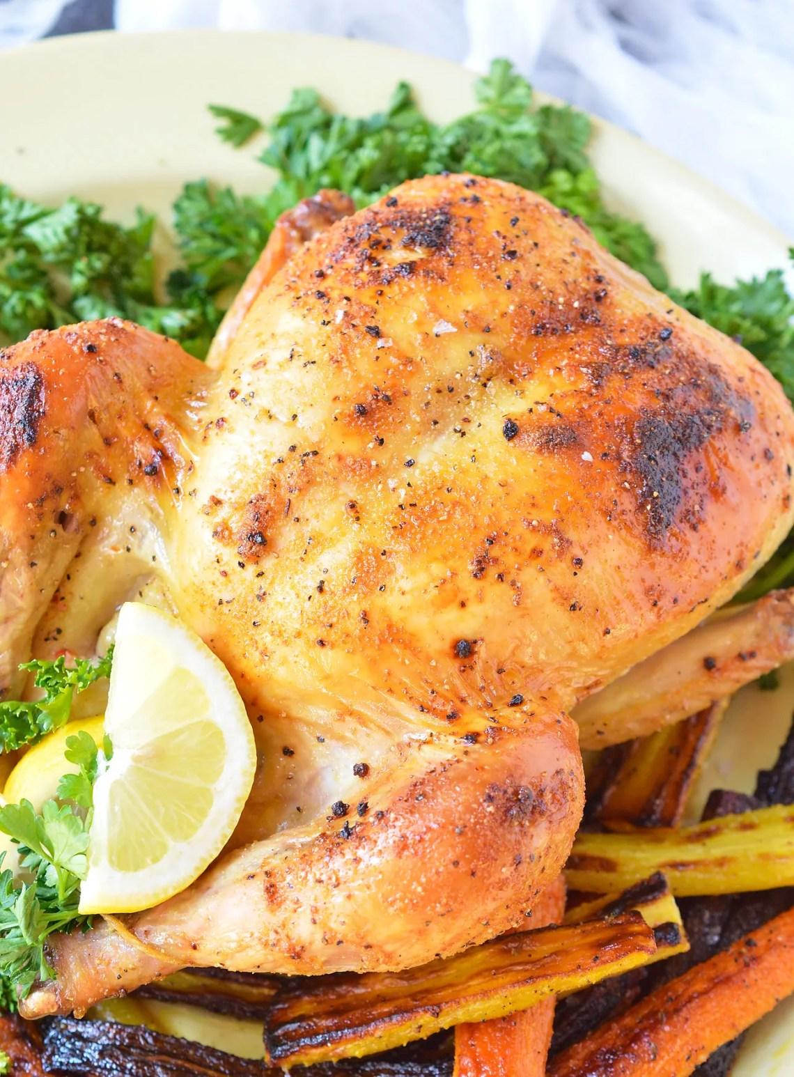 Oven Roasted Whole Chicken - WonkyWonderful