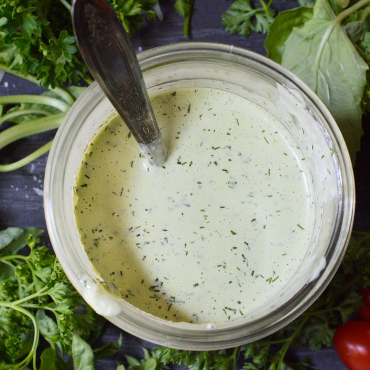 Pesto Ranch Dressing Recipe