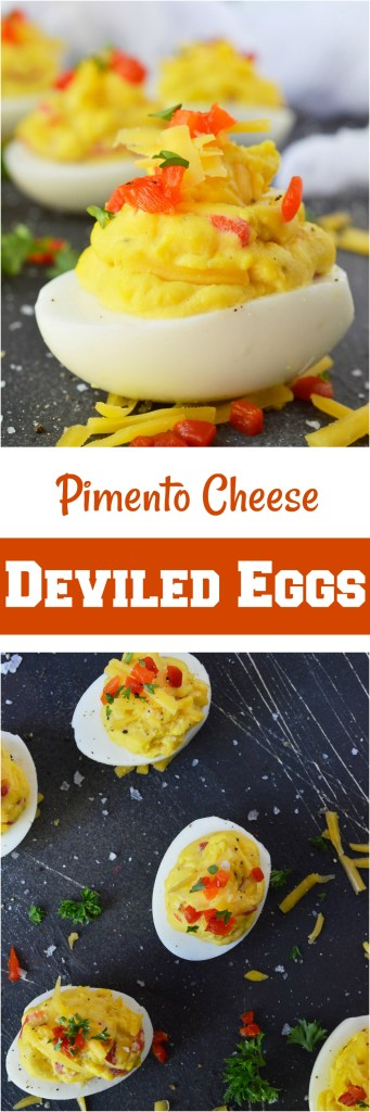 Pimento Cheese Deviled Eggs is a guaranteed crowd pleaser! This unique combo takes a favorite party appetizer recipe to the next level.