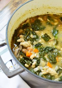Meal planning just got easier with thisVegetable Turkey Soup dinner recipe. Lean turkey, fresh kale, carrots and mushrooms make this hearty meal nutritious and tasty!