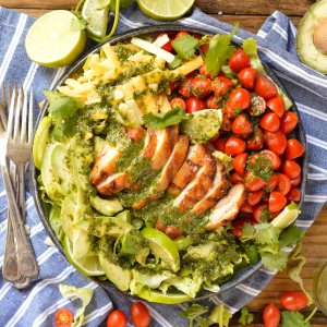 Grilled Chicken Salad with Cilantro Lime Dressing