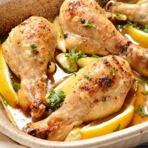 Lemon Garlic Chicken Drumstick Recipe (Whole30, Paleo)