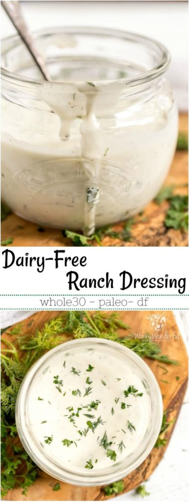 dairy free whole30 ranch dressing pinnable image