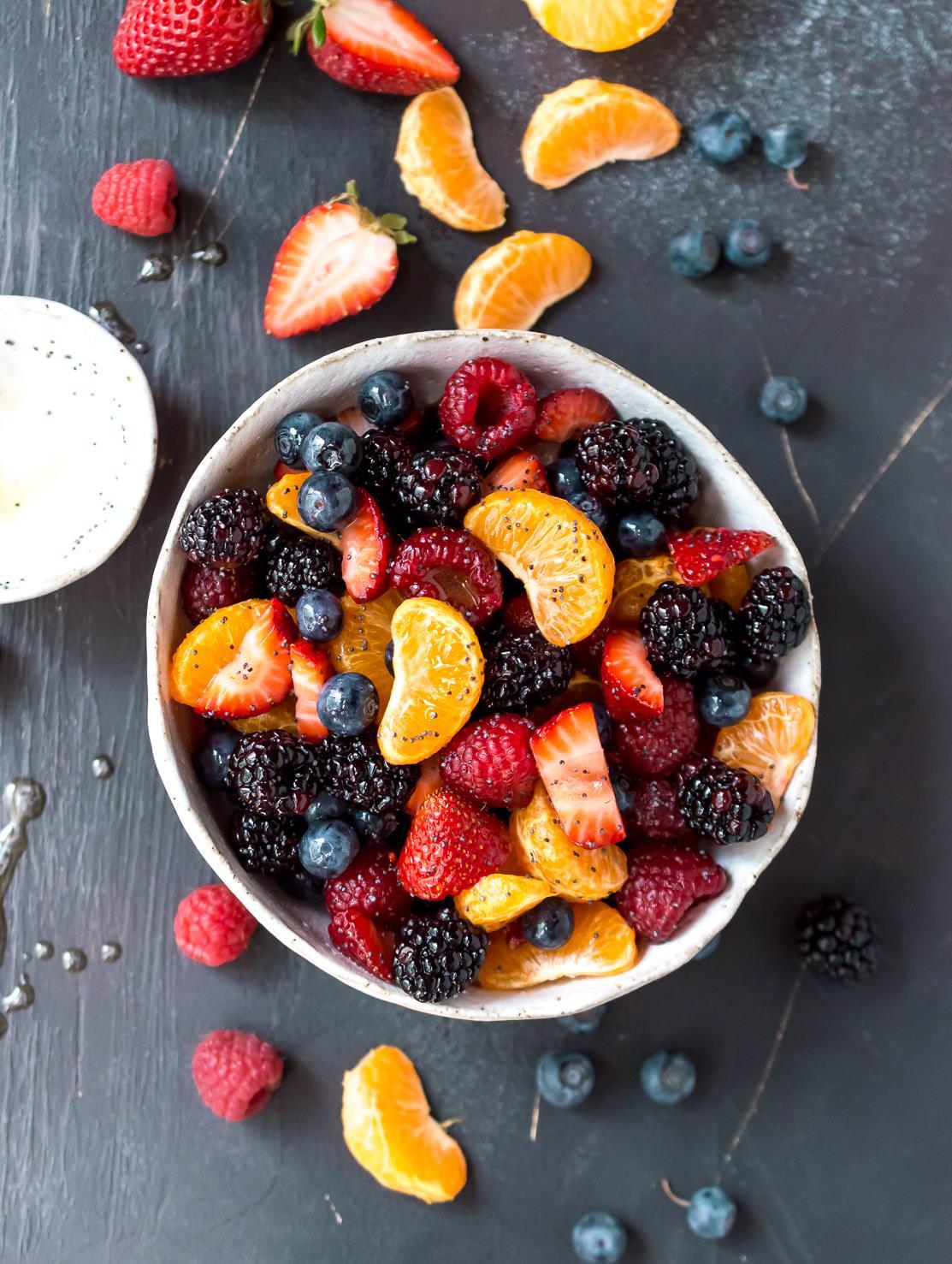 Healthy Berry Fruit Salad Wonkywonderful