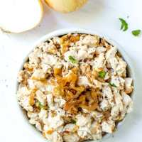 Caramelized Onion Paleo Chicken Salad
