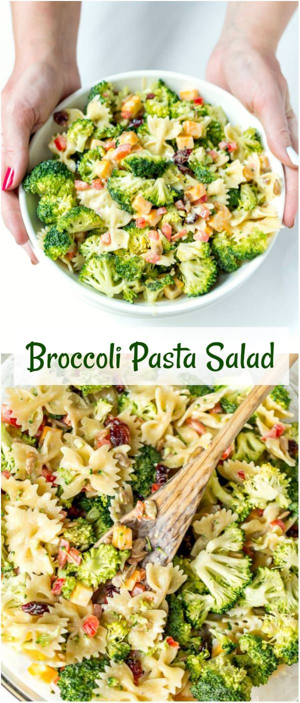 broccoli salad recipe with pasta and cheese