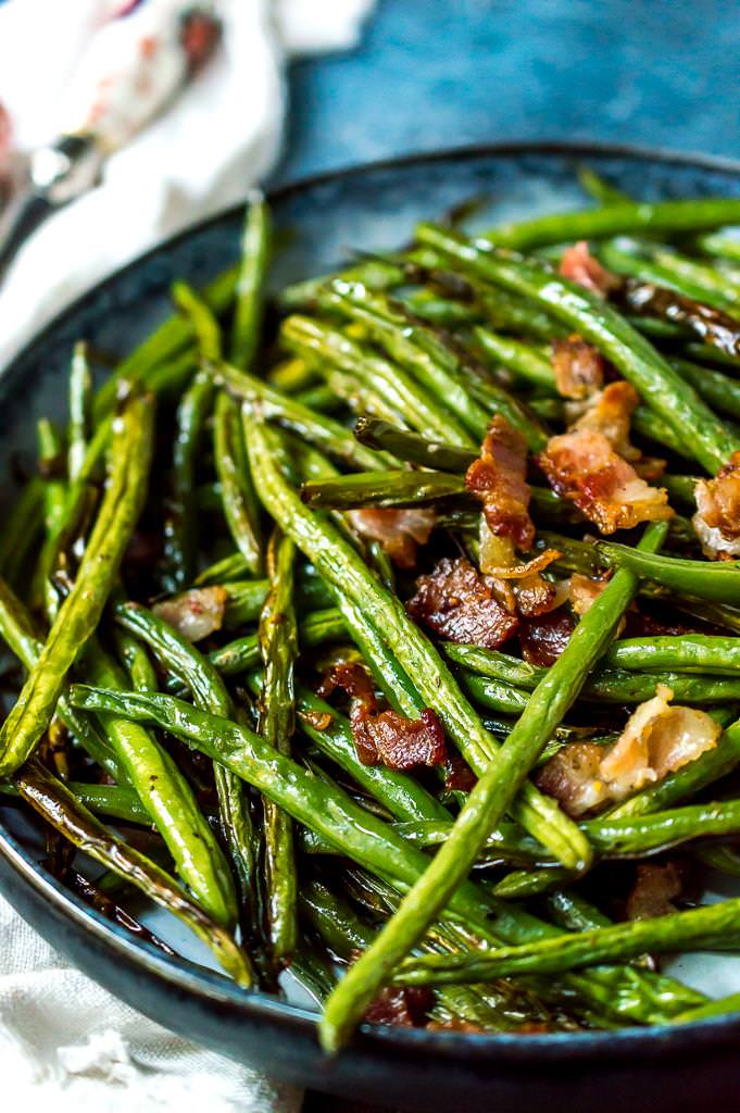 Roasted Green Beans With Bacon Wonkywonderful