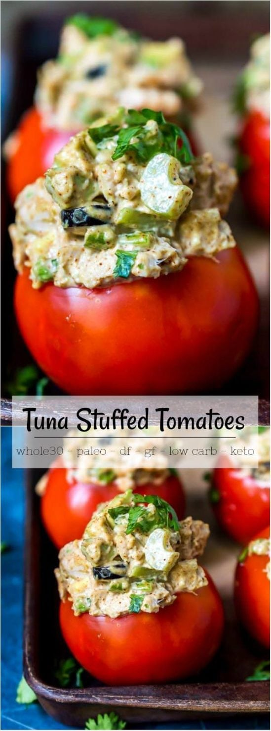 taco tuna stuffed tomatoes