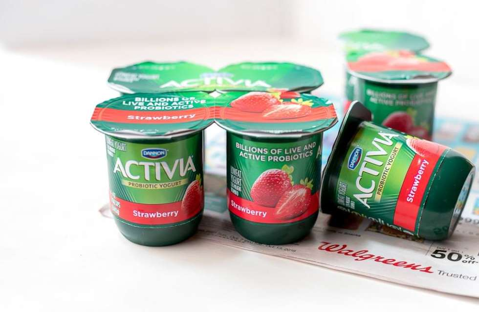 activia strawberry yogurt cups