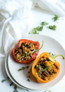 Farro Salad Stuffed Peppers Recipe