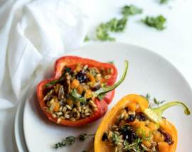Farro Salad Stuffed Peppers Recipe