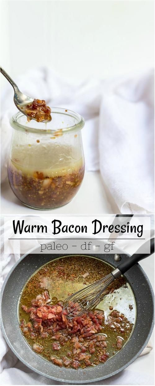 Warm Bacon Dressing Recipe collage recipe