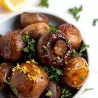 Roasted Lemon Garlic Mushrooms