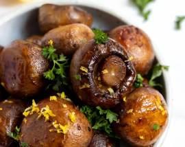 Roasted Lemon Garlic Mushrooms