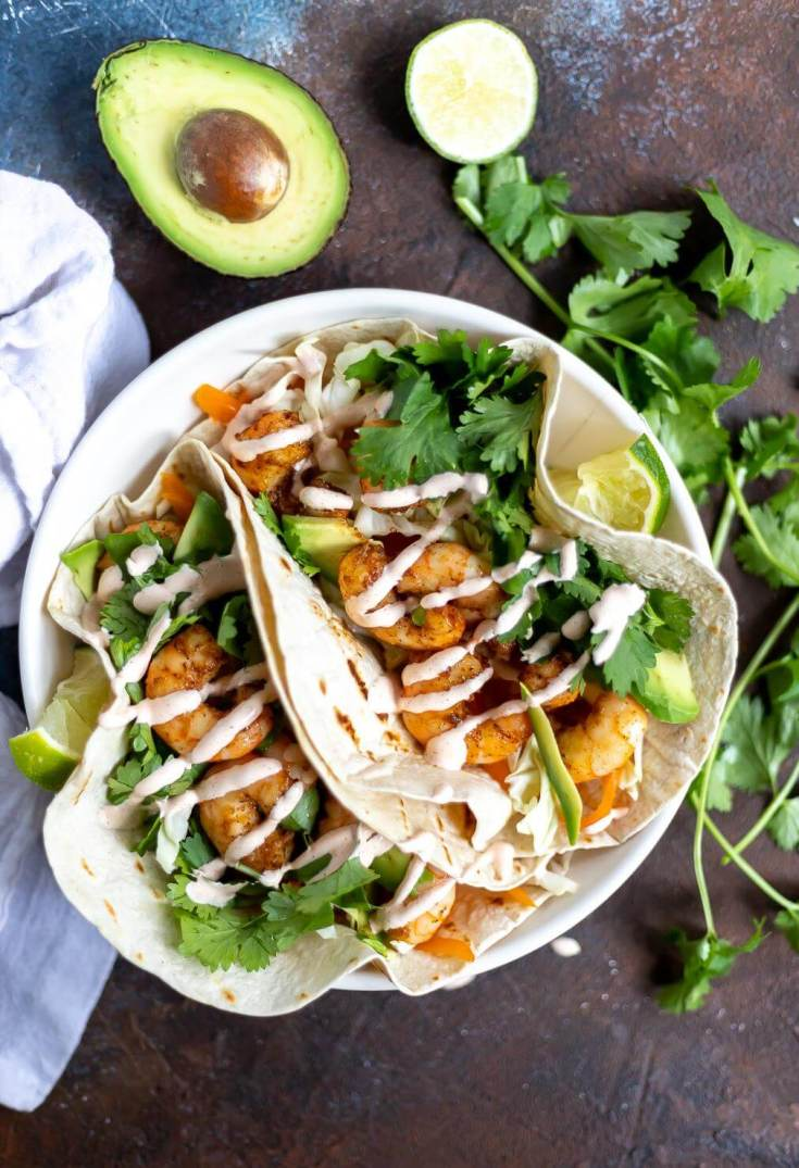 Easy Shrimp Tacos Wonkywonderful