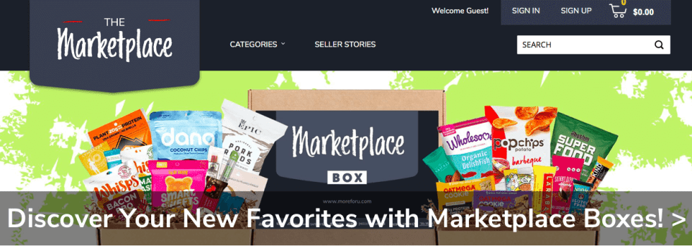 screenshot from The Marketplace online grocery market