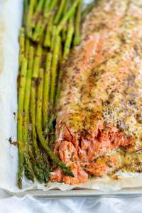 Baked Salmon Asparagus Sheet Pan Dinner