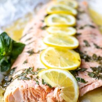 Baked Lemon Basil Salmon Recipe