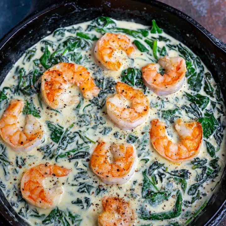 Shrimp and Spinach Cream Sauce