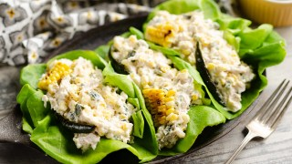 Roasted Poblano & Sweet Corn Chicken Salad